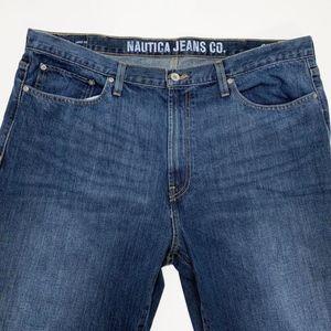 Nautica Mens Jeans Size 40 Waist 30 Long Loose Fit